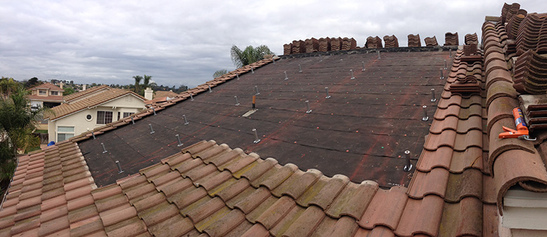 Roof During Solar Installation