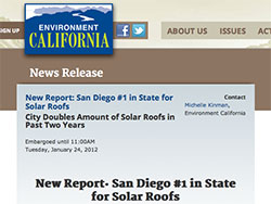 San Diego is #1 in California for Solar Roofs
